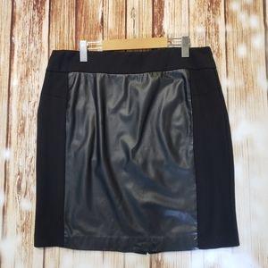 Faux Leather Stretch Mini Skirt 16 1X Plus Y2K 00S